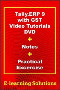 Combo Offer - Tally  ERP 9 With GST Video Tutorials DVD + Notes +